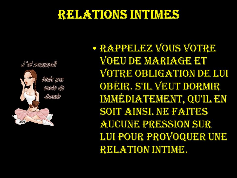 Relations intimes