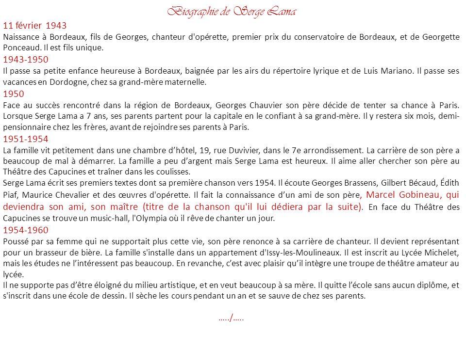 Biographie de Serge Lama