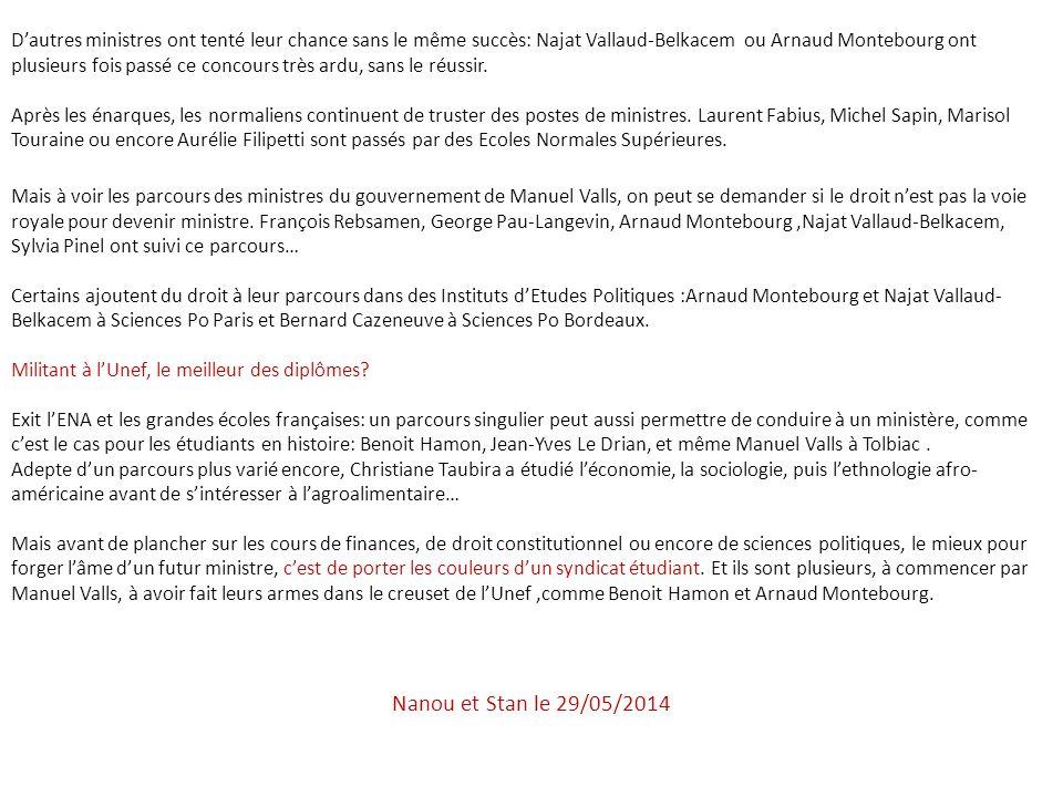 D'autres ministres ont tenté leur chance sans le même succès: Najat Vallaud-Belkacem ou Arnaud Montebourg ont plusieurs fois passé ce concours très ardu, sans le réussir.