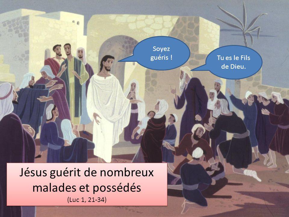 Jésus guérit de nombreux malades et possédés