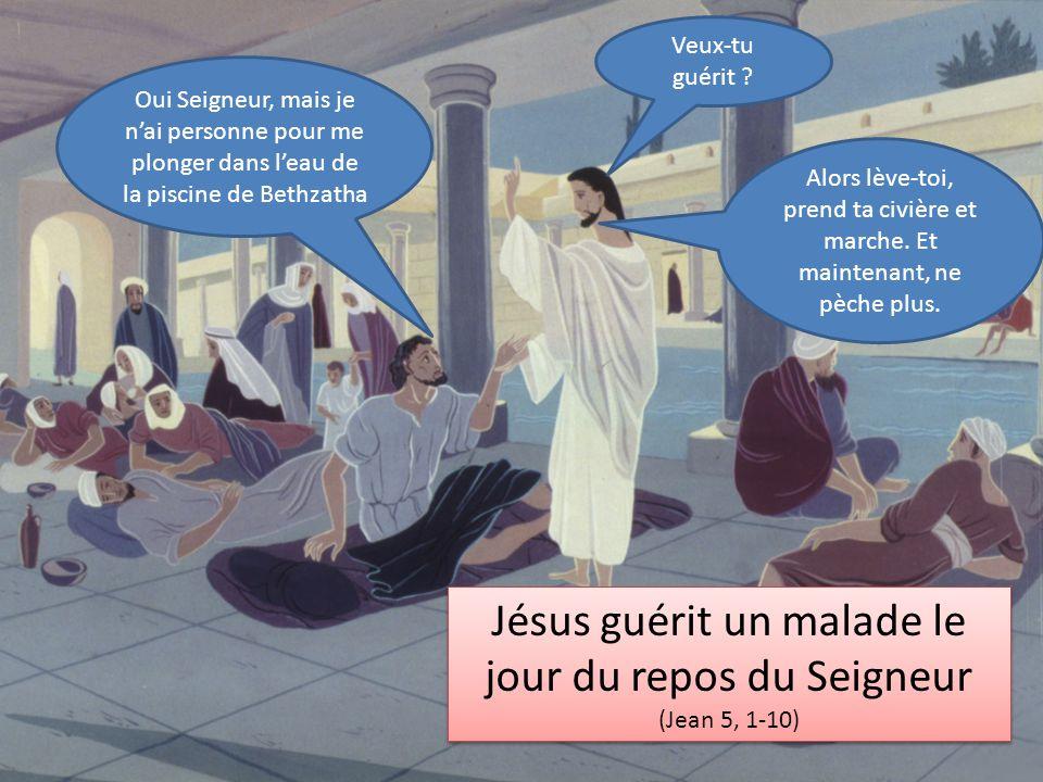 Jésus guérit un malade le jour du repos du Seigneur