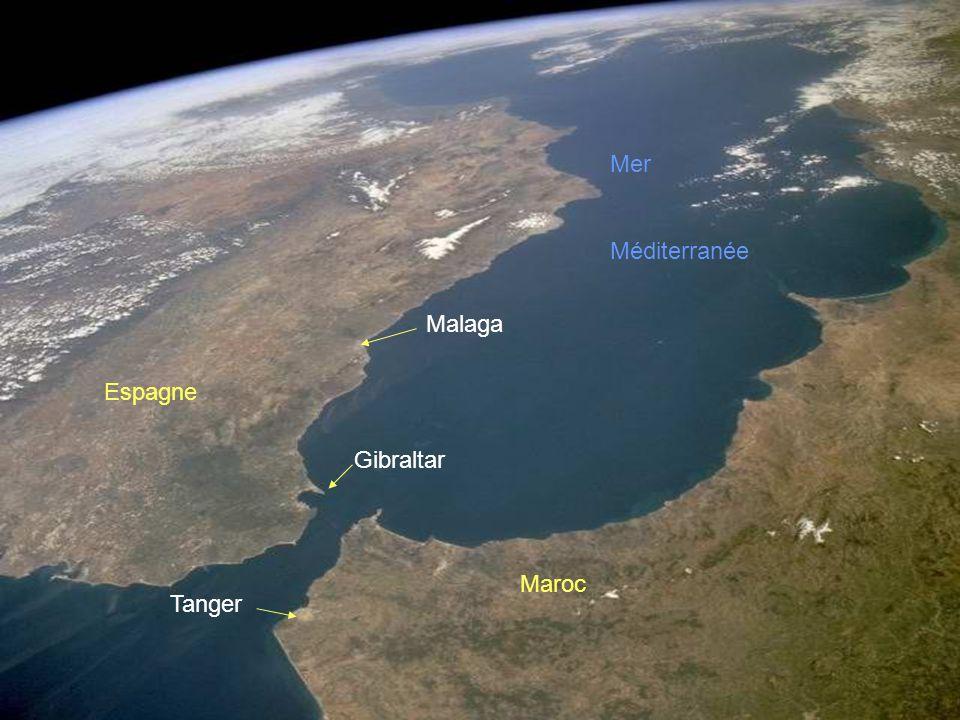 Mer Méditerranée Malaga Espagne Gibraltar Maroc Tanger