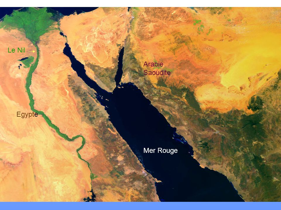 Le Nil Arabie Saoudite Egypte Mer Rouge