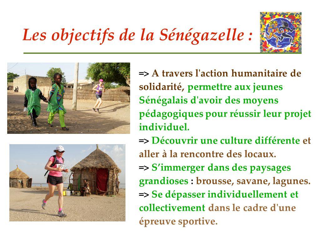 Les objectifs de la Sénégazelle :