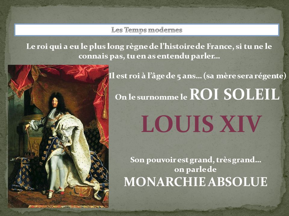 LOUIS XIV MONARCHIE ABSOLUE