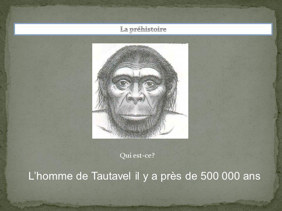 L'homme de Tautavel il y a près de 500 000 ans