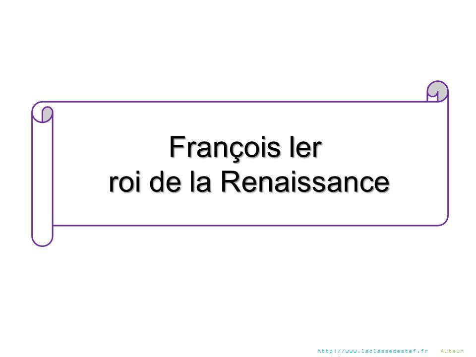 François Ier roi de la Renaissance