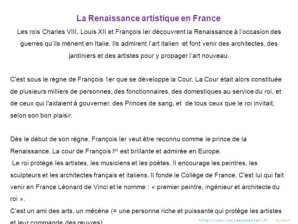 La Renaissance artistique en France