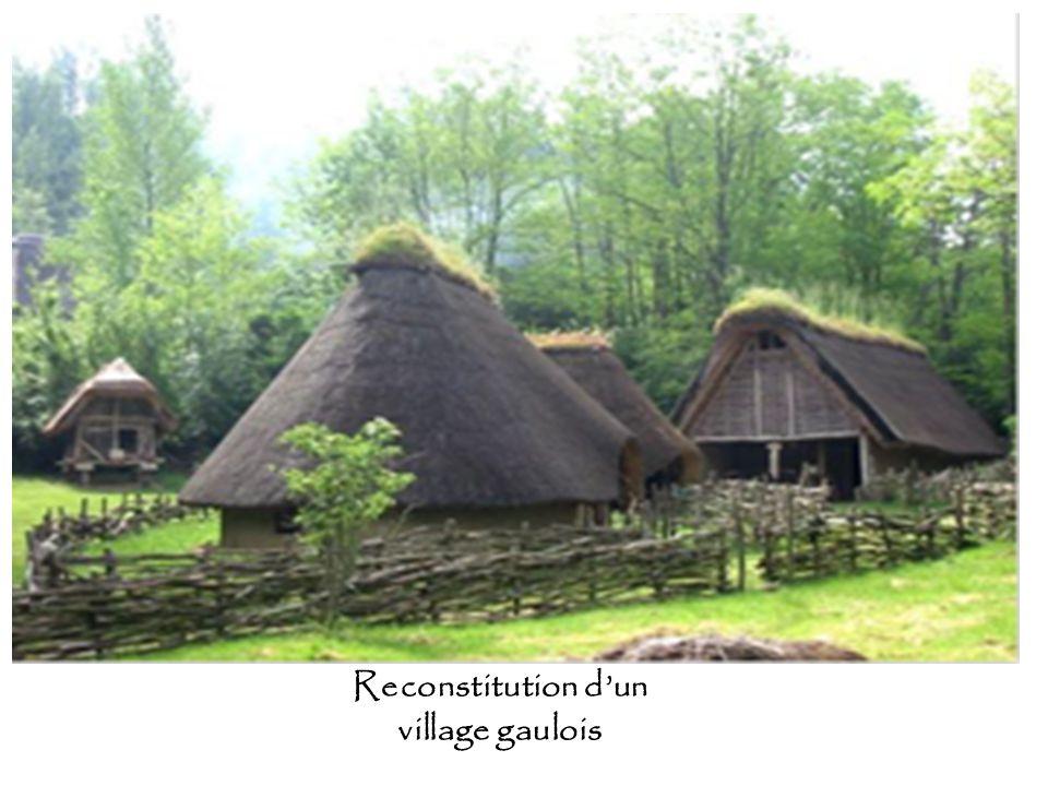 Reconstitution d'un village gaulois