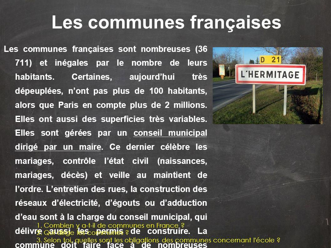 Les communes françaises