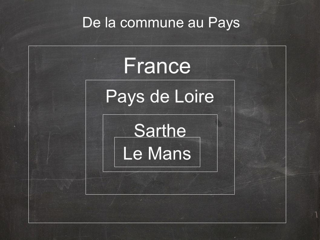 De la commune au Pays France Pays de Loire Sarthe Le Mans