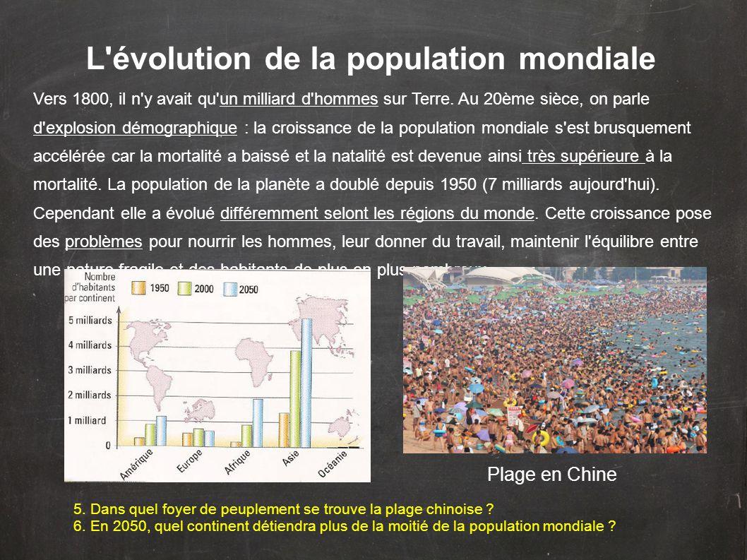 L évolution de la population mondiale