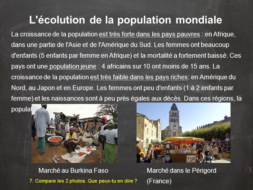 L écolution de la population mondiale