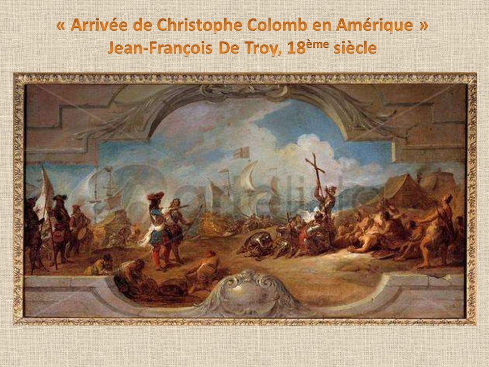 « Arrivée de Christophe Colomb en Amérique »