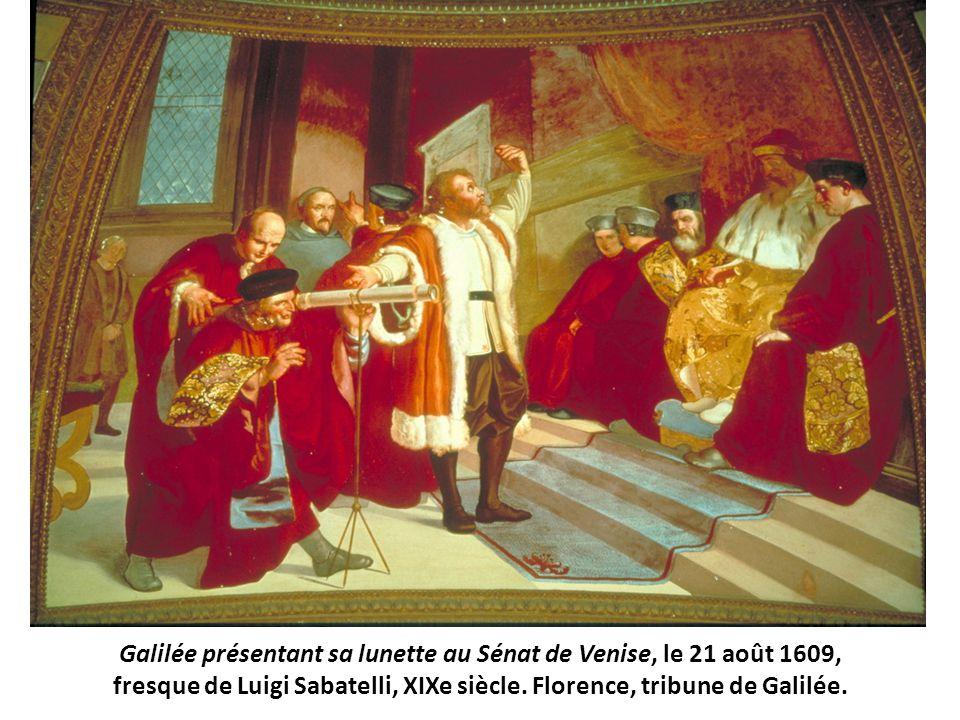 Galilée présentant sa lunette au Sénat de Venise, le 21 août 1609,
