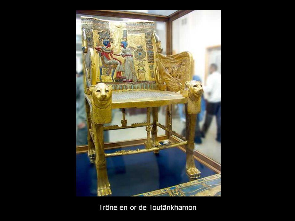 Trône en or de Toutânkhamon