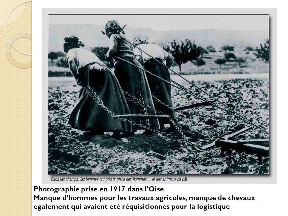 Photographie prise en 1917 dans l Oise