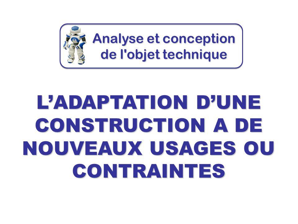 L'ADAPTATION D'UNE CONSTRUCTION A DE NOUVEAUX USAGES OU CONTRAINTES