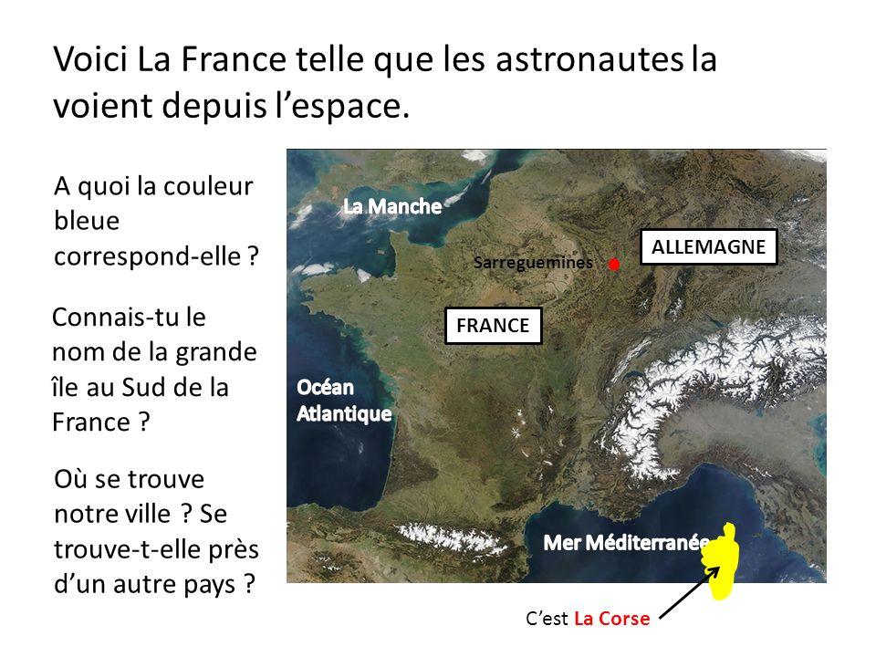 Voici La France telle que les astronautes la voient depuis l'espace.