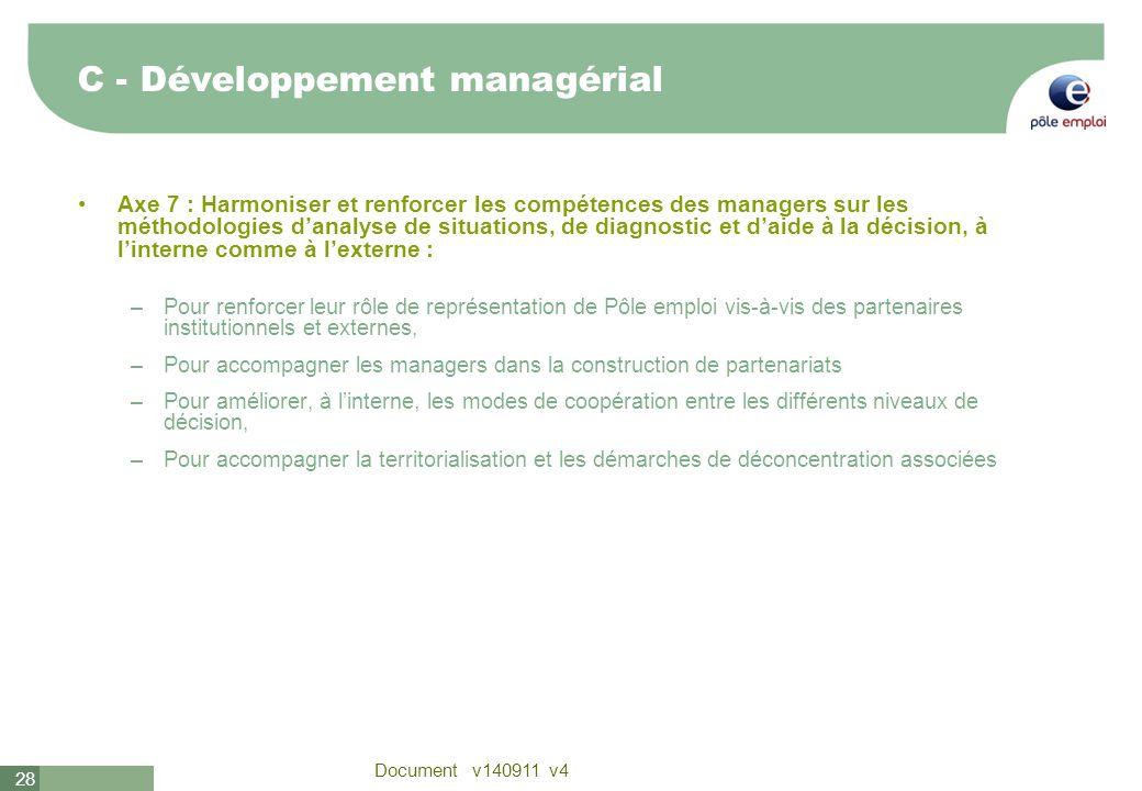 C - Développement managérial