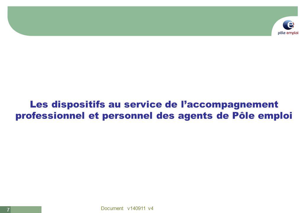 Les dispositifs au service de l'accompagnement professionnel et personnel des agents de Pôle emploi