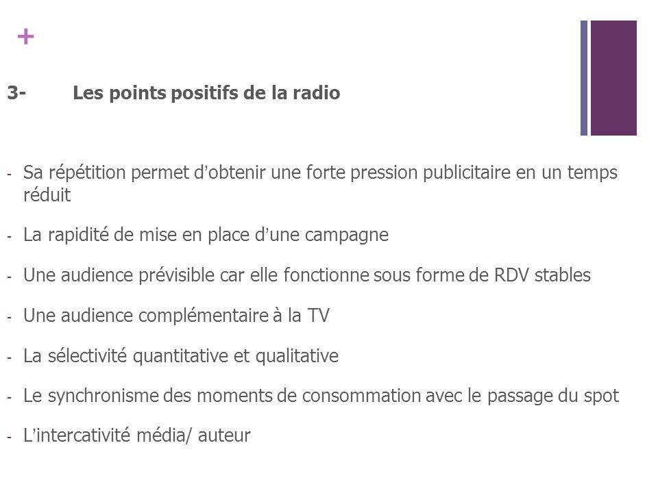 3- Les points positifs de la radio