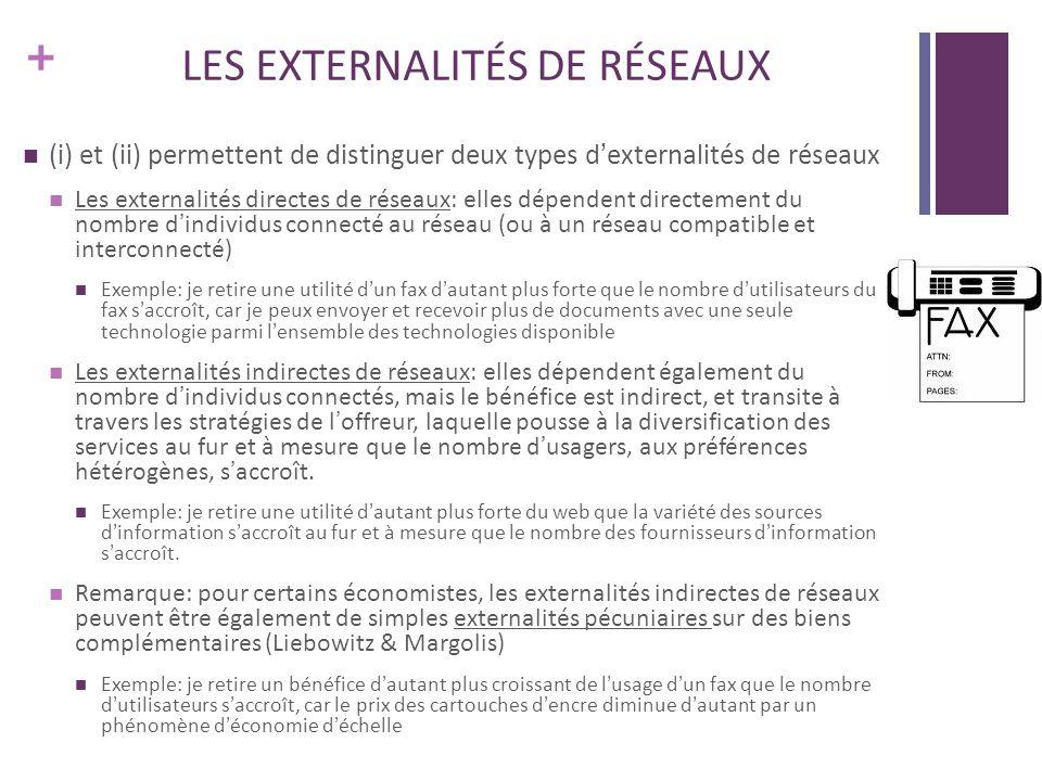 LES EXTERNALITÉS DE RÉSEAUX