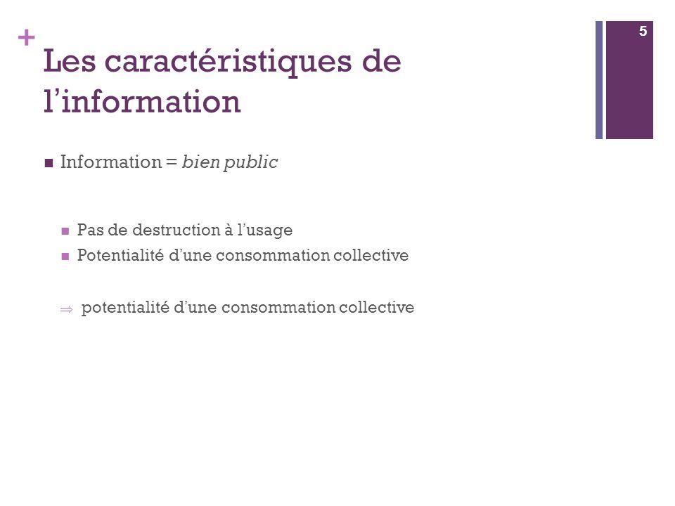 Les caractéristiques de l'information