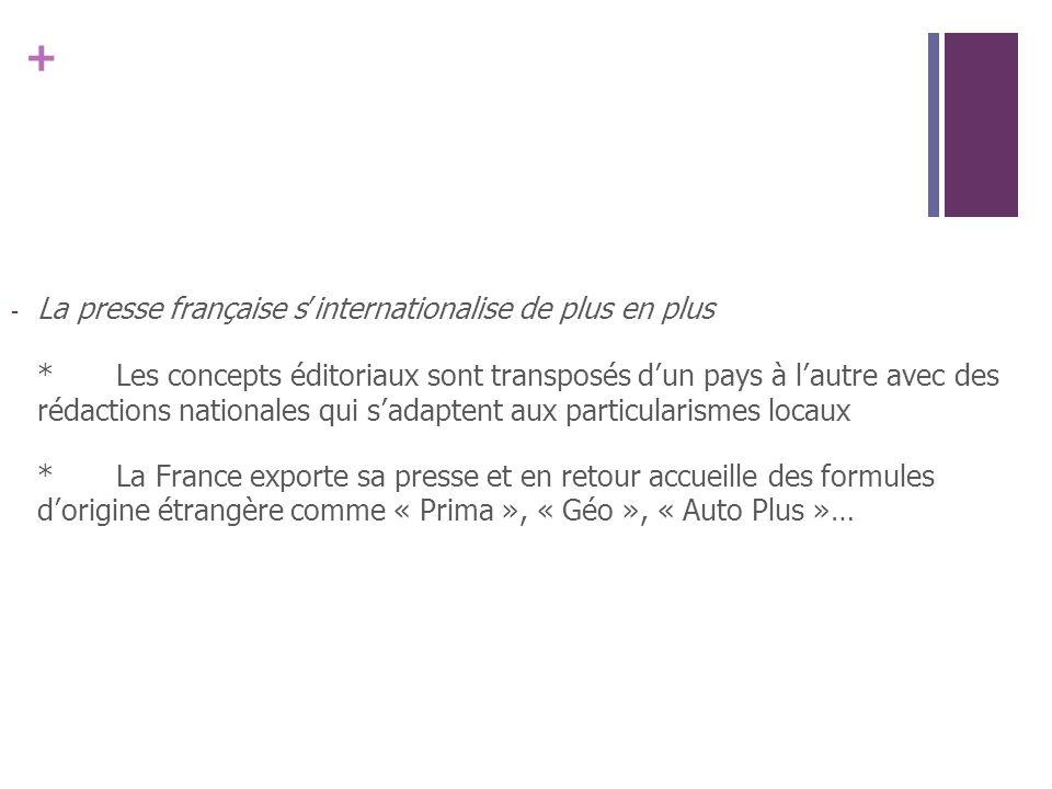 La presse française s'internationalise de plus en plus