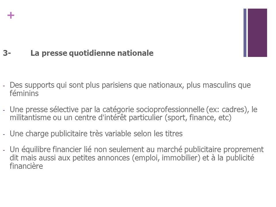 3- La presse quotidienne nationale