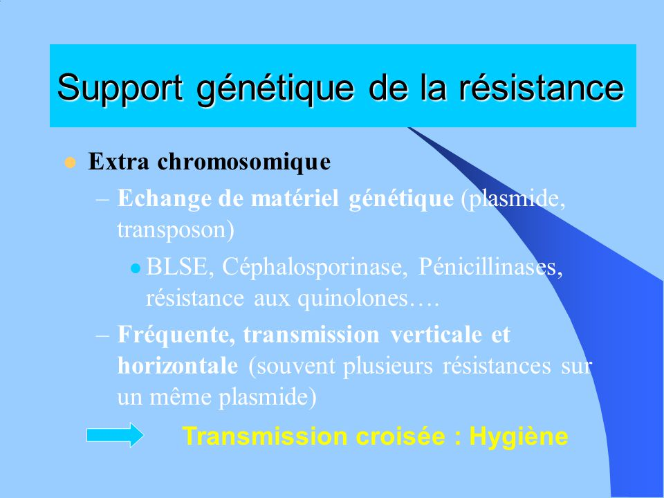 Support génétique de la résistance