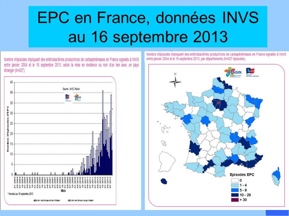 EPC en France, données INVS au 16 septembre 2013