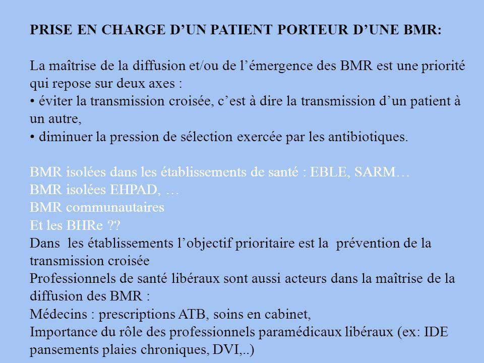 PRISE EN CHARGE D'UN PATIENT PORTEUR D'UNE BMR: