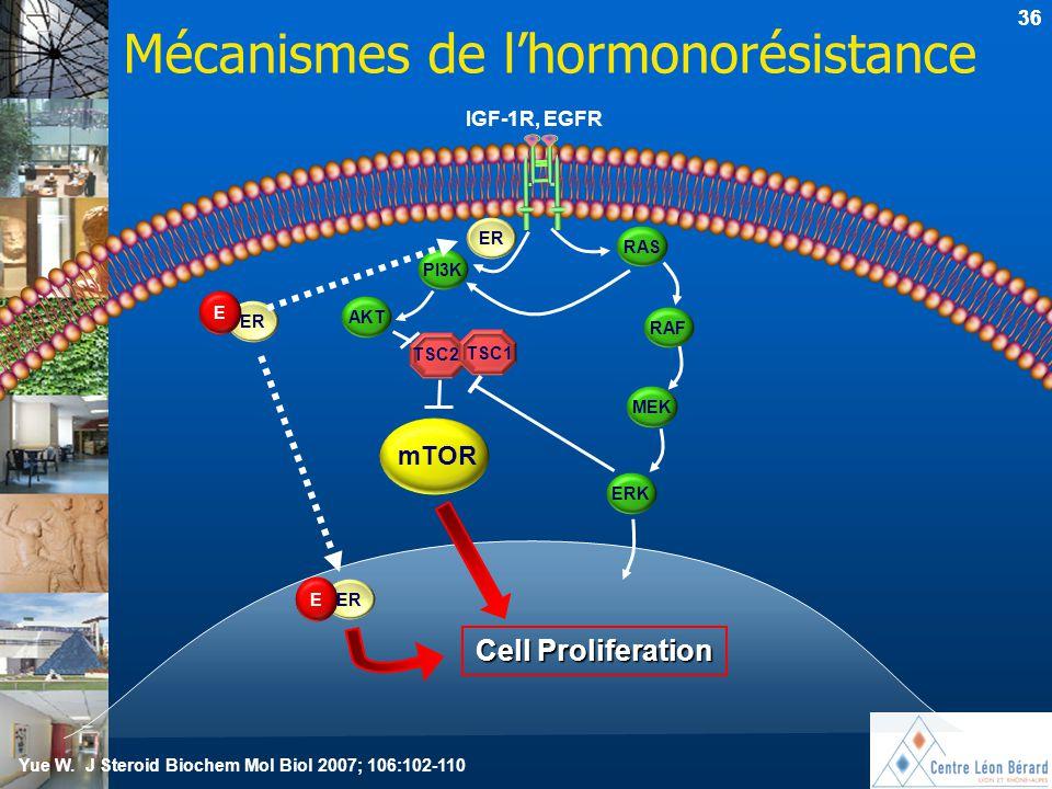 Mécanismes de l'hormonorésistance