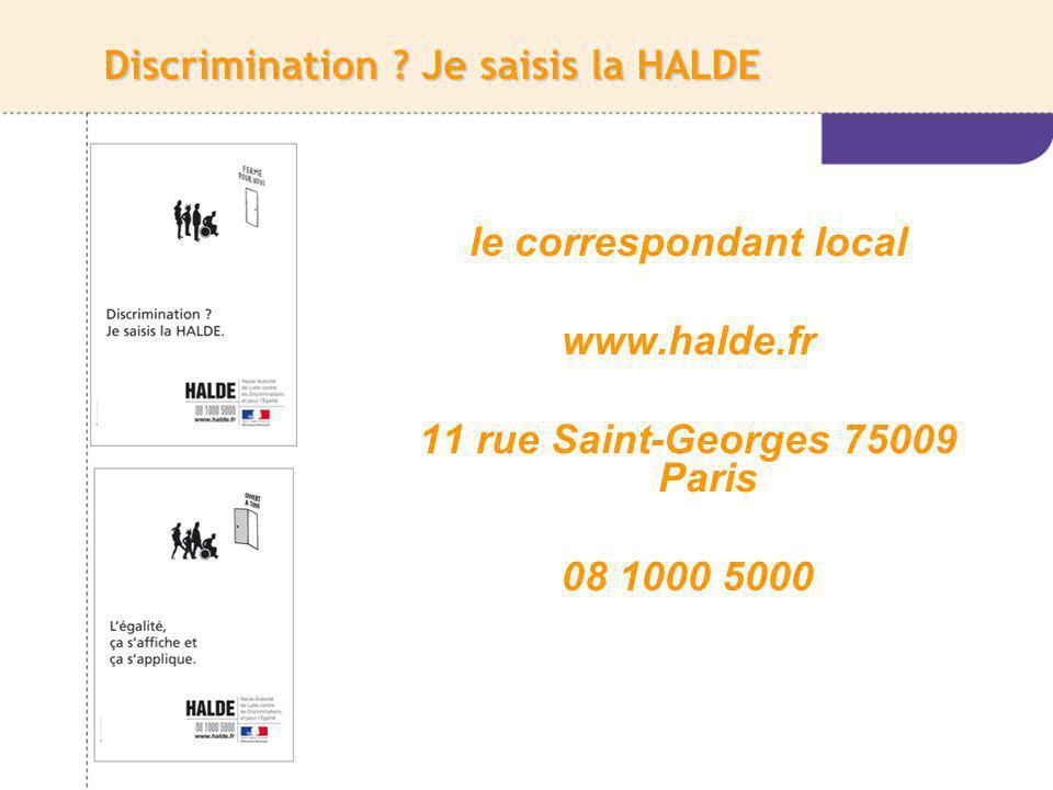Discrimination Je saisis la HALDE