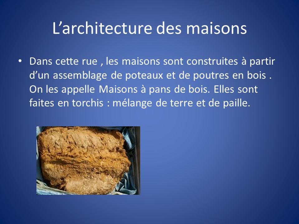 L'architecture des maisons
