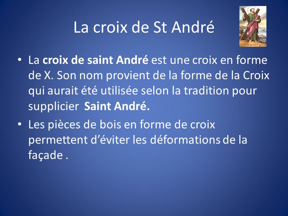 La croix de St André