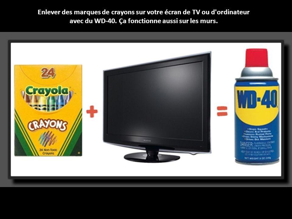 Enlever des marques de crayons sur votre écran de TV ou d ordinateur