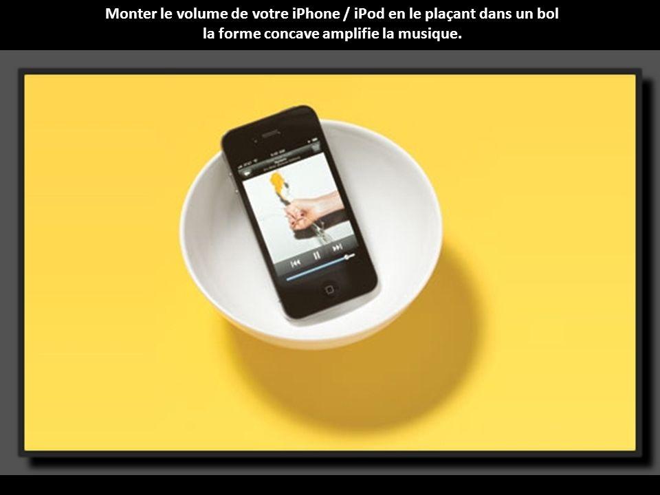 Monter le volume de votre iPhone / iPod en le plaçant dans un bol