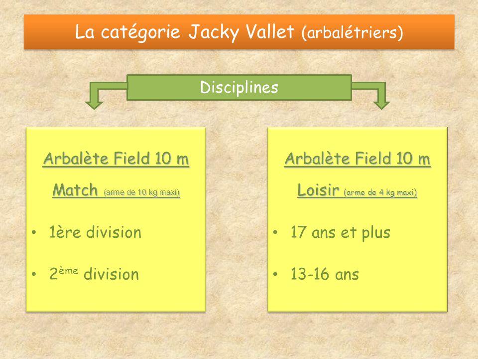 La catégorie Jacky Vallet (arbalétriers)