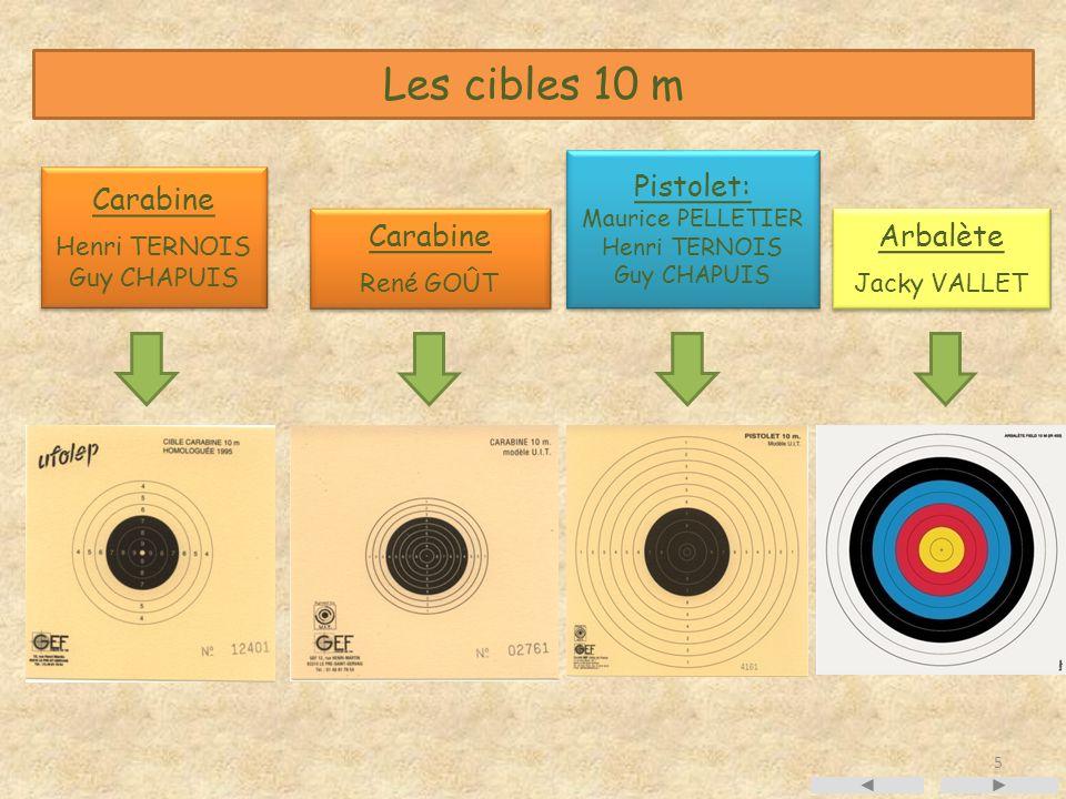 Les cibles 10 m Pistolet: Carabine Carabine Arbalète Henri TERNOIS