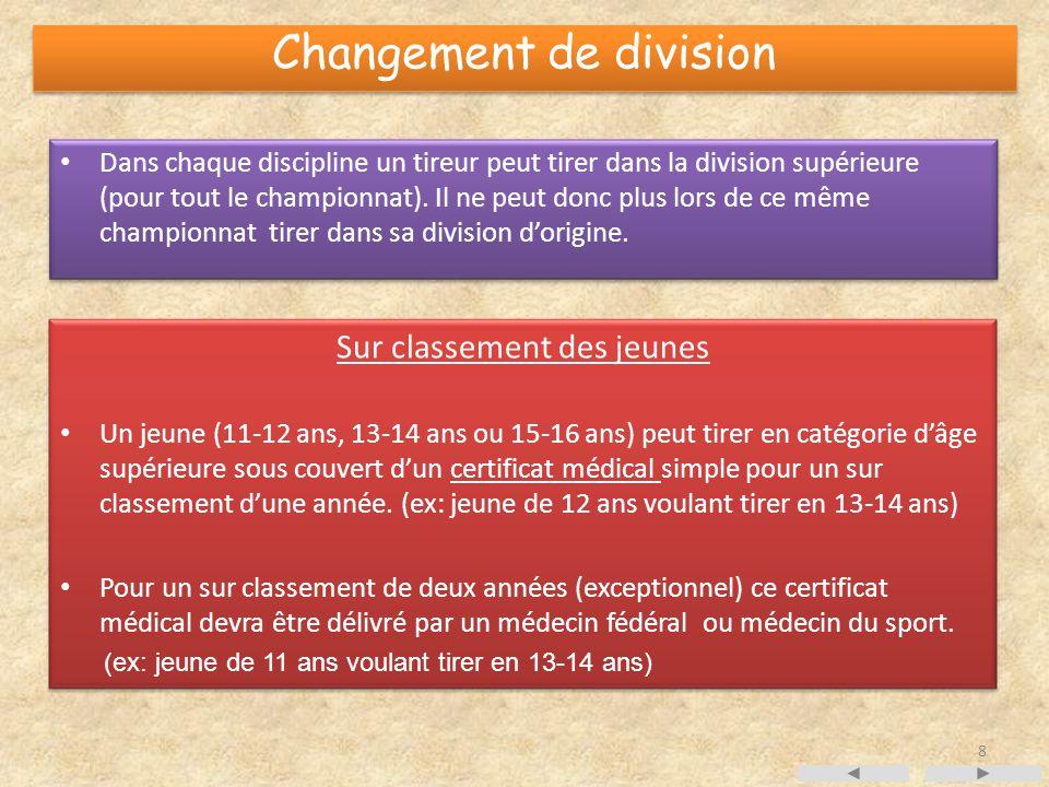 Changement de division