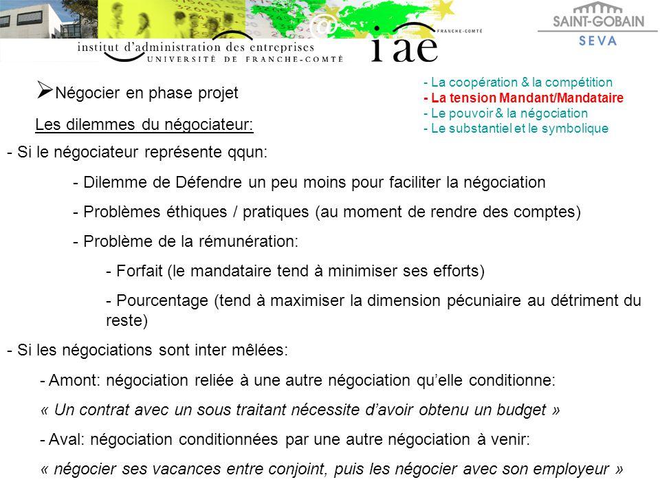 Négocier en phase projet
