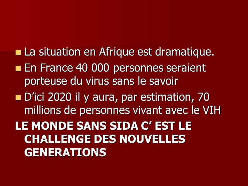La situation en Afrique est dramatique.