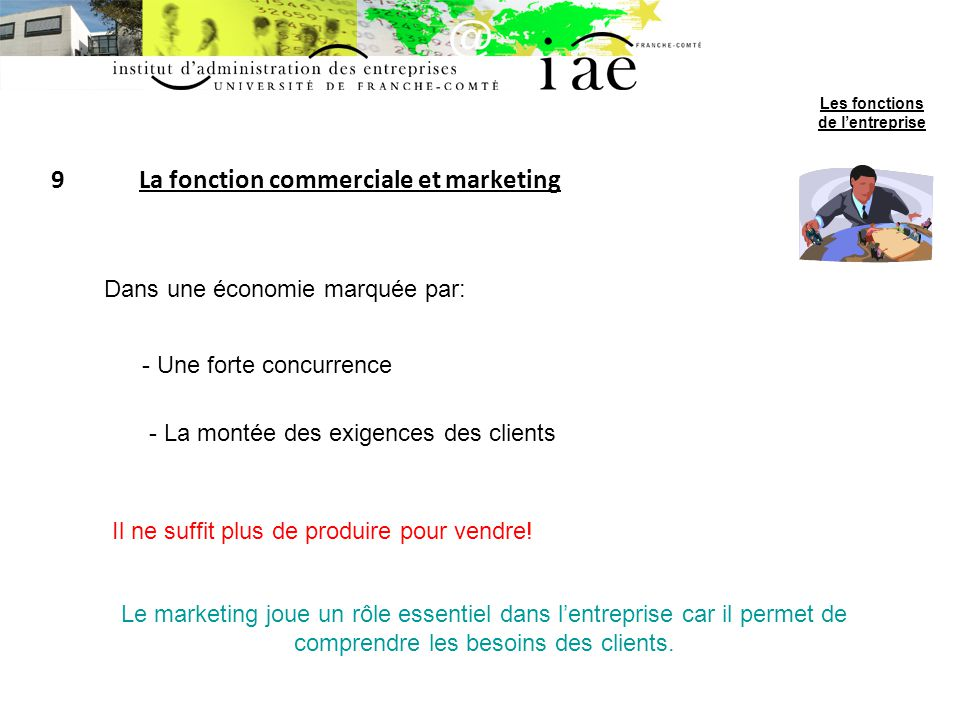 9 La fonction commerciale et marketing