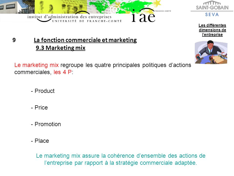 9 La fonction commerciale et marketing 9.3 Marketing mix