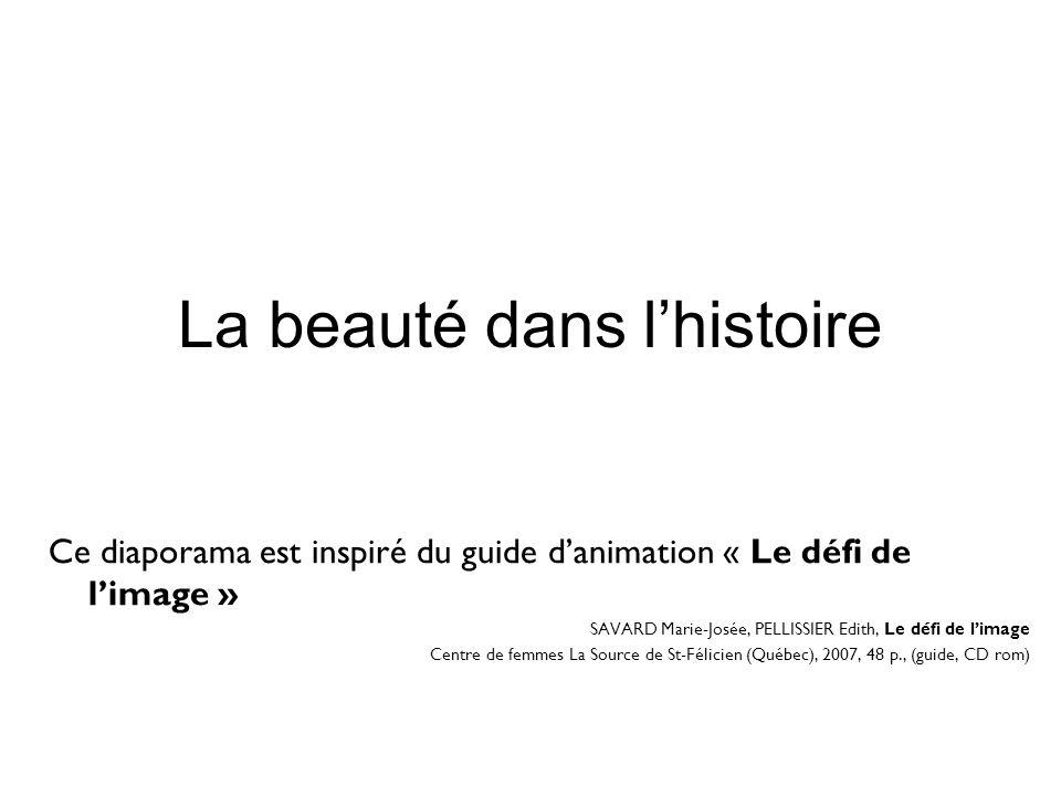 La beauté dans l'histoire