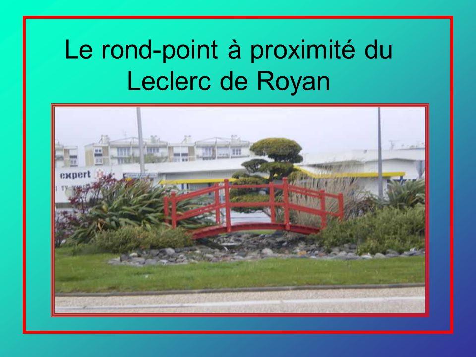 Le rond-point à proximité du Leclerc de Royan