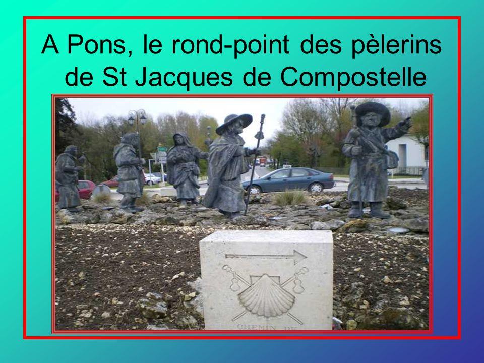 A Pons, le rond-point des pèlerins de St Jacques de Compostelle