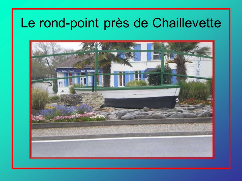 Le rond-point près de Chaillevette
